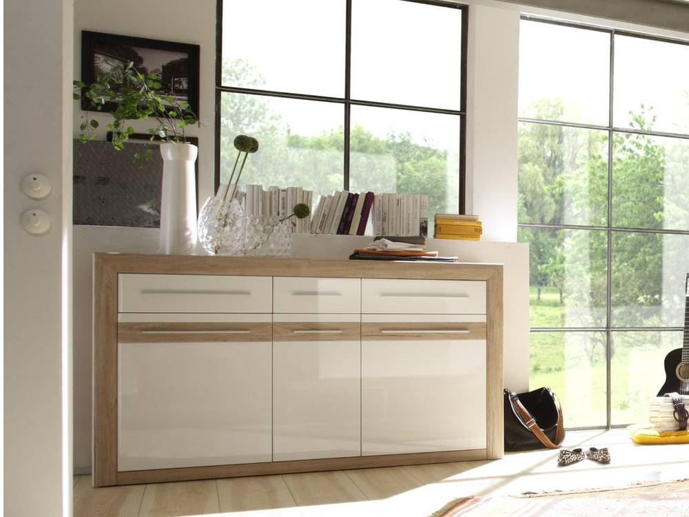 miriam sideboard wei san remo sand. Black Bedroom Furniture Sets. Home Design Ideas