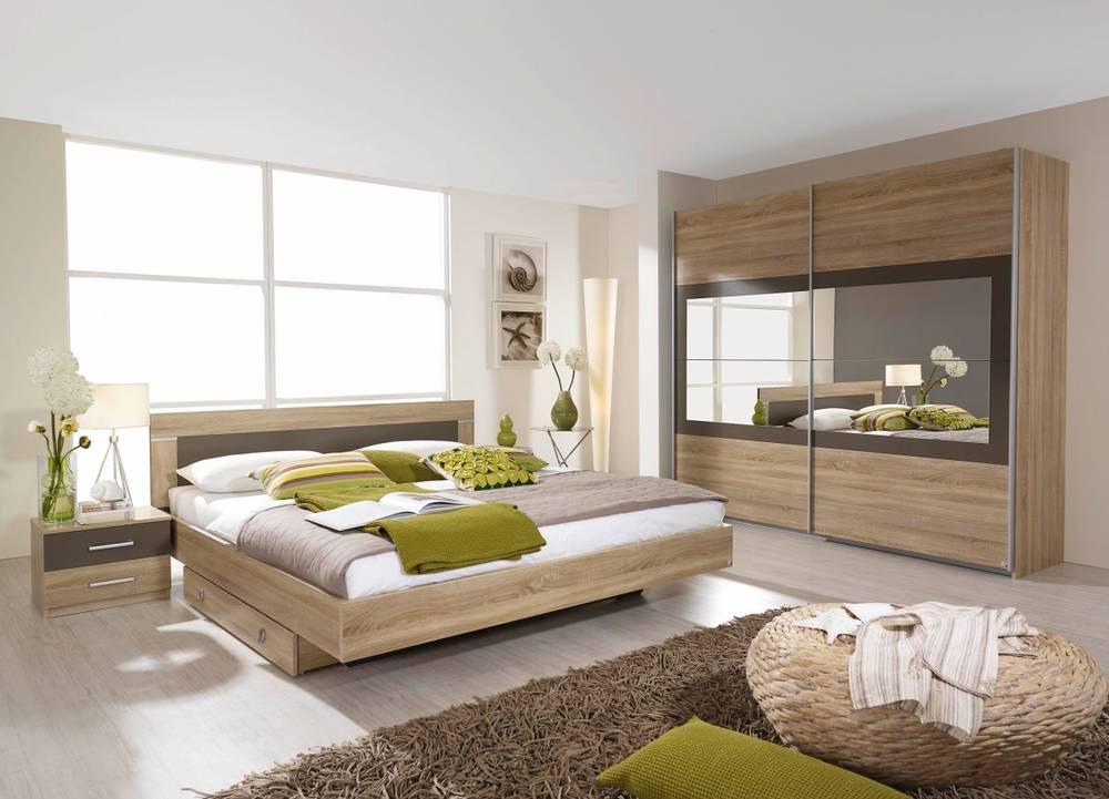 Schlafzimmer Nussbaum Grau : VELO Komplett Schlafzimmer 160 x 200