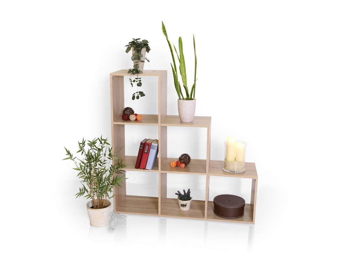 regal treppe laluna eiche sonoma. Black Bedroom Furniture Sets. Home Design Ideas