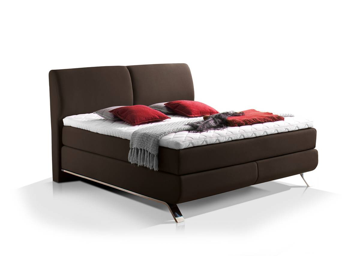adonis boxspringbett stoffbezug 160 x 200 cm braun h rtegrad 2 3 500 st ck. Black Bedroom Furniture Sets. Home Design Ideas