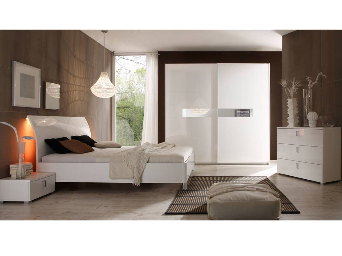 lydia doppelbett weiss hochglanz lackiert 160 x 200 cm. Black Bedroom Furniture Sets. Home Design Ideas