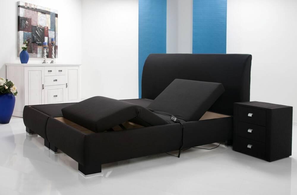 luxus elektrisches boxspringbett doppelbett einzelbett 90 x 200. Black Bedroom Furniture Sets. Home Design Ideas