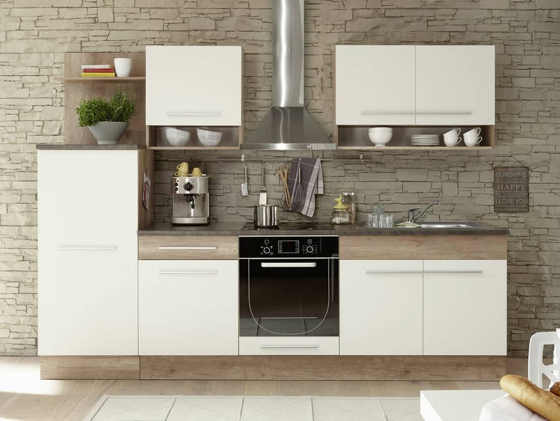 monumental k chenblock monument eiche wei. Black Bedroom Furniture Sets. Home Design Ideas