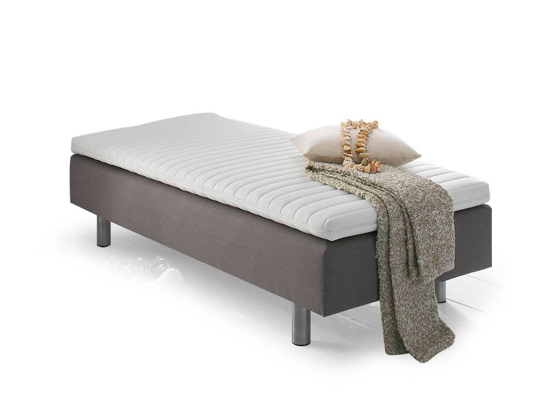 gerald einzelbett boxspringbett 90 x 200 grau. Black Bedroom Furniture Sets. Home Design Ideas