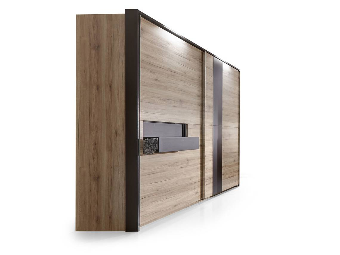 diva ii schwebet renschrank mit 2 schubk sten 200 cm sanremo eiche lavagrau. Black Bedroom Furniture Sets. Home Design Ideas