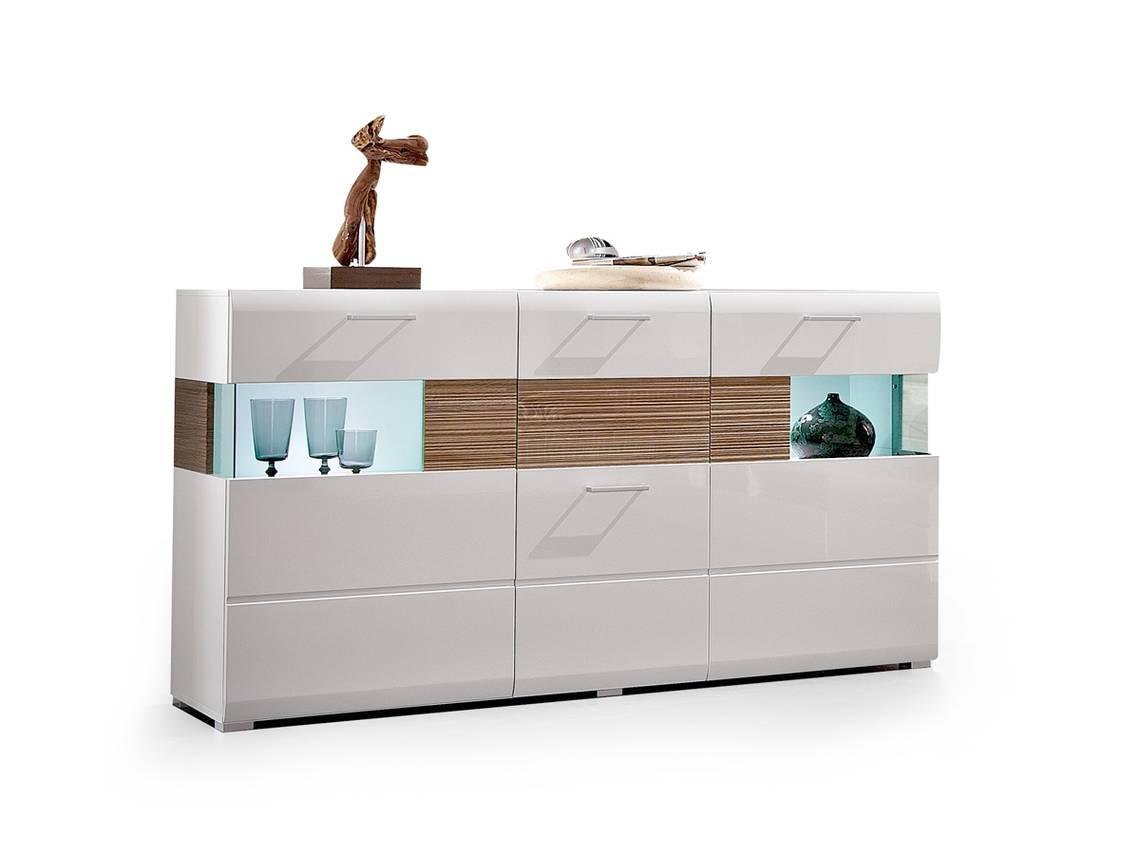 flinn sideboard weiss eiche hell. Black Bedroom Furniture Sets. Home Design Ideas