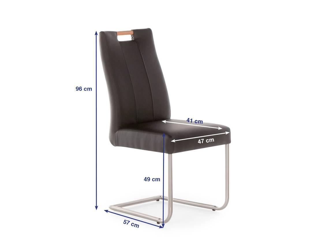 janie schwinger schwingstuhl mit holzgriff buche kunstleder braun. Black Bedroom Furniture Sets. Home Design Ideas