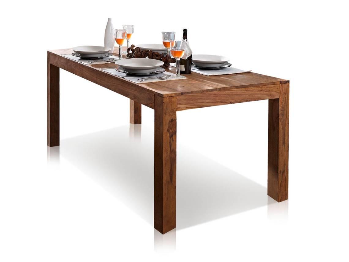 Esstisch Massivholz Reduziert : WHITNEY Massivholz Esstisch sheesham gebeizt 200×100 cm DETAILIMAGE 7
