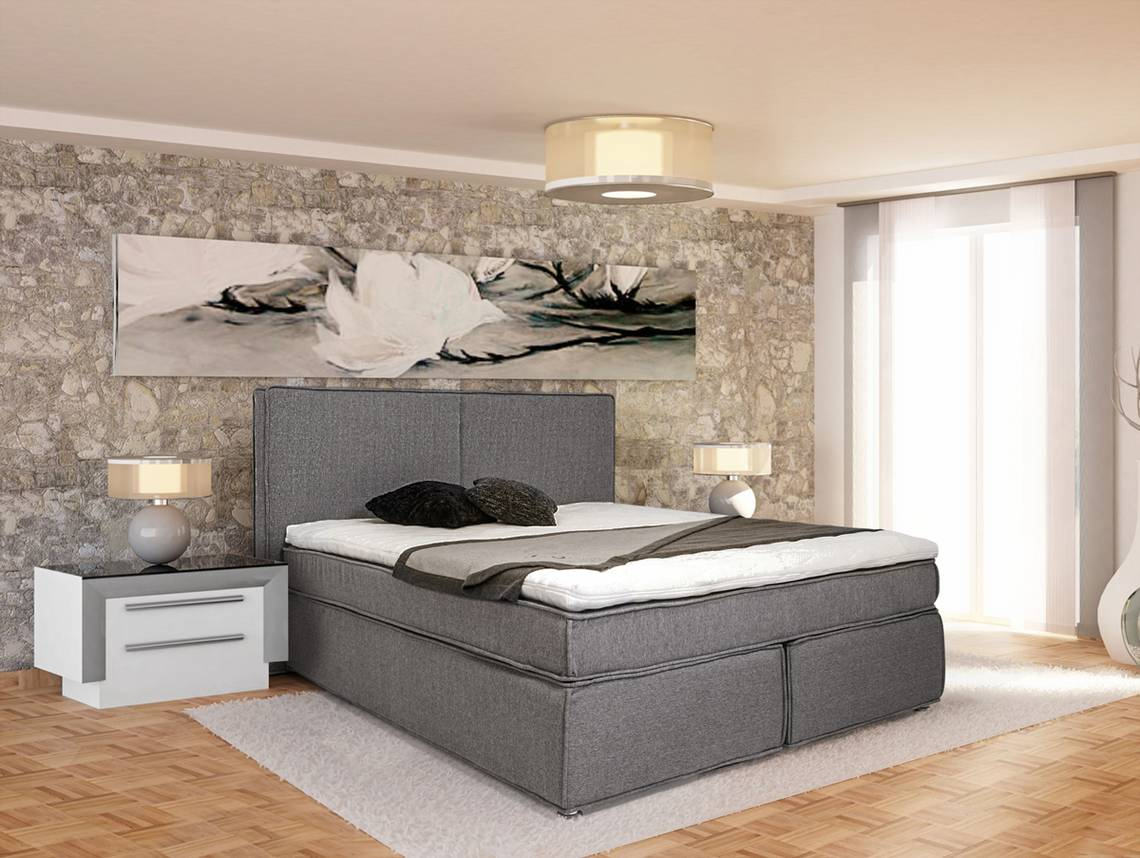 zeus boxspringbett 140 x 200 cm h rtegrad 2 105 cm. Black Bedroom Furniture Sets. Home Design Ideas