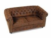 CHESTERFIELD 2er Sofa Gobi braun