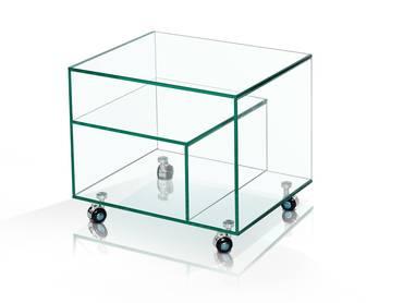 DEMY Beistelltisch Klarglas 50x40 cm