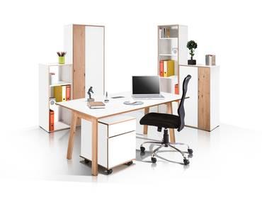 FELIPE Komplett-Büro Eiche/weiß