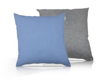 Kissen 2er Set Pastell Blau/Granitgrau