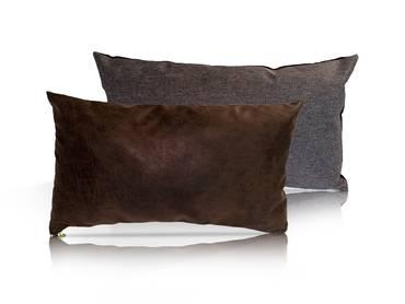 Kissen 2er Set Vintage Mocca/Granitgrau