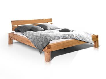 morton doppelbett massivholzbett eiche ge lt 200 x 200 cm. Black Bedroom Furniture Sets. Home Design Ideas