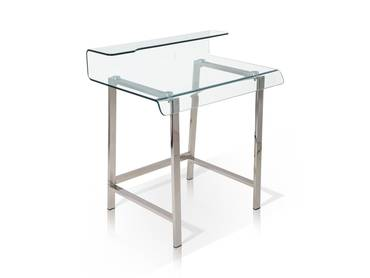 MILLAR Schreibtisch Beistelltisch Klarglas