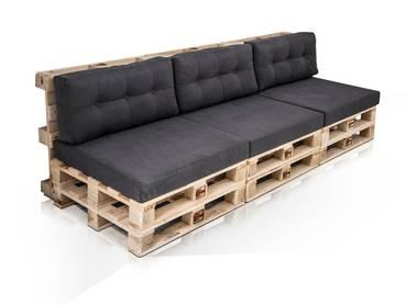 PALETTI 3-Sitzer Sofa aus Paletten Fichte natur