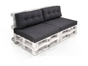 PALETTI 2-Sitzer Sofa aus Paletten weiss lackiert