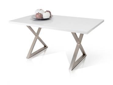 PRAG Esstisch 160x90 MDF weiß matt