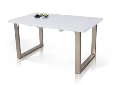 ROM Esstisch 150/190x90 cm weiß Hochglanz