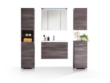 SALOME Badezimmer-Set 5tlg, Material Dekorspanplatte, Sangallo eichefarbig
