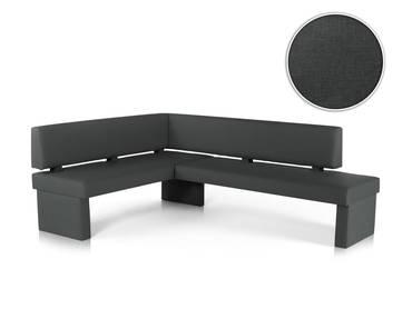 spider sitzbank mit r cken in stoffbezug anthrazit 130 cm. Black Bedroom Furniture Sets. Home Design Ideas