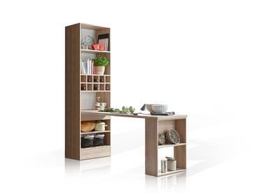 VINO Regal + Tisch Dekor Eiche Sonoma