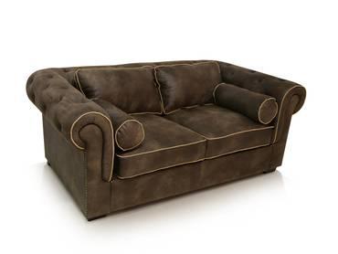 WALSTAR Sofa 2-Sitzer grau-braun