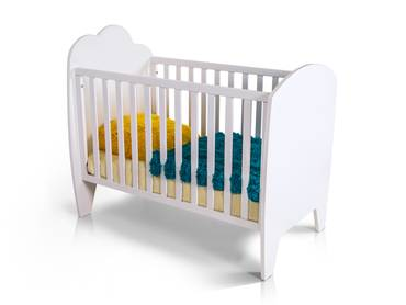 WOLKE Babybett weiss lackiert