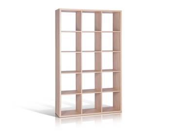 MAXI Regal mit 15 Fächern, Material Dekorspanplatte Eiche sonomafarbig