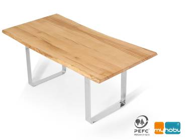 ZWEIGELT Esstisch / Baumkantentisch / Maßesstsich