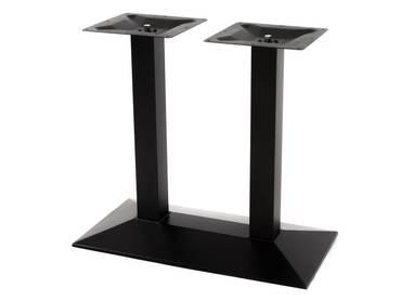 Doppel-Tischgestell aus Gusseisen, pulverbeschichtet schwarz
