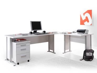 OFFICE LINE Winkelkombination, Material Dekorspanplatte weiss
