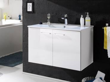 SLOT Waschtisch inkl. Becken mit zwei Türen weiss