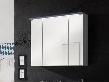 SLOT Spiegelschrank inkl. LED-Beleuchtung grau