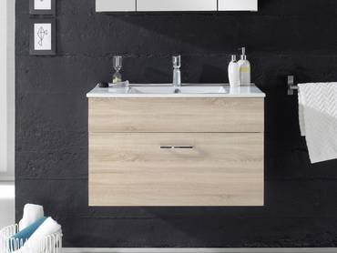 SLOT Waschtisch inkl. Becken mit einer Schublade Eiche Sonoma Nachbildung MDF