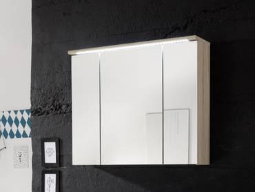 SLOT Spiegelschrank inkl. LED-Beleuchtung Eiche Sonoma Nachbildung MDF