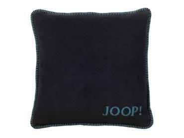 JOOP! Uni-Doubleface Kissen mit Füllung türkis/schwarz