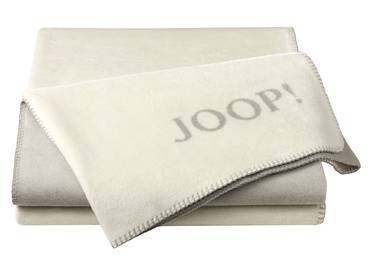 JOOP! Tagesdecke Uni-Doubleface grau/beige
