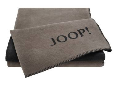 JOOP! Tagesdecke Uni-Doubleface taupe/anthrazit