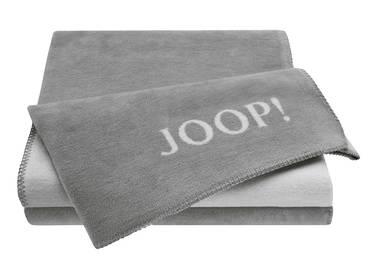 JOOP! Tagesdecke Uni-Doubleface grau