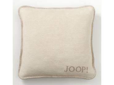 JOOP! Uni-Doubleface Kissen mit Füllung beige