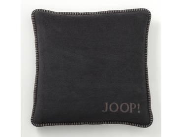 JOOP! Uni-Doubleface Kissen mit Füllung anthrazit/taupe
