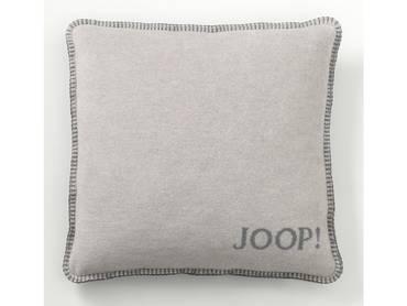 JOOP! Uni-Doubleface Kissen mit Füllung grau