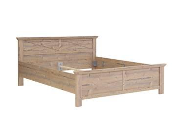 NIZZA Doppelbett 180x200 cm, Material MDF, Bramberg fichtefarbig