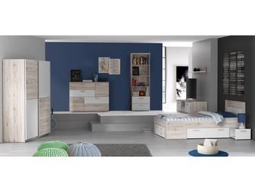 DALIA Jugendzimmer, Material Dekorspanplatte, Material Dekorspanplatte