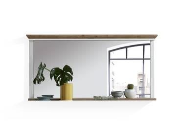 JADY Spiegel 142x74 cm mit Boden, Material MDF piniefarbig hell/eichefarbig