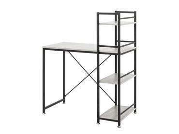 ANDRA Computertisch/Schreibtisch, Material MDF/Stahl, schwarz/betongrau