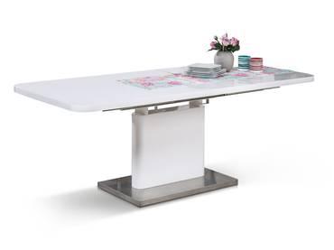 ADRIANA Esstisch 120/160x80 cm weiß