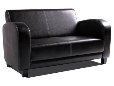 ANTO Sofa 2-Sitzer Antikbraun, Füsse nussbaumfarben